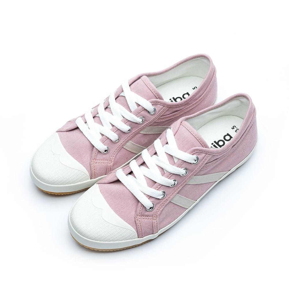 ARRIBA艾樂跑女鞋-軟底可折帆布鞋 休閒鞋-芋/灰/白(AB8091)
