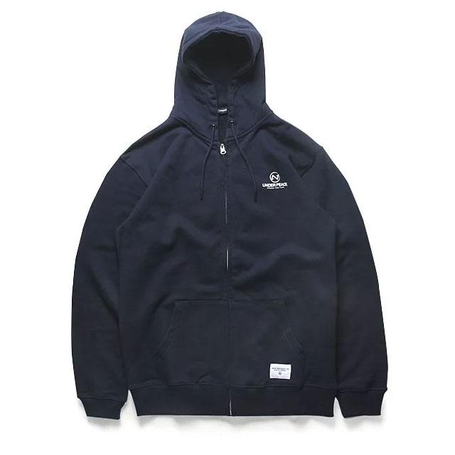 UNDER PEACE - 18AW BASIC / ZIP UP HOODED 連帽外套 (深藍色)