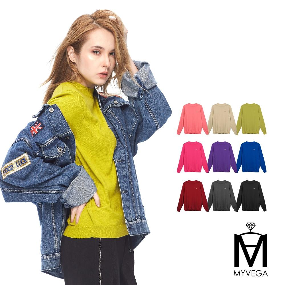 【麥雪爾】MA羊毛針織素多彩面衫-共9色