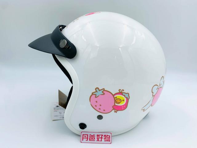 【華泰】草莓款-拉拉熊小可愛安全帽K-803RK-8 (白/頭圍約57~60cm)