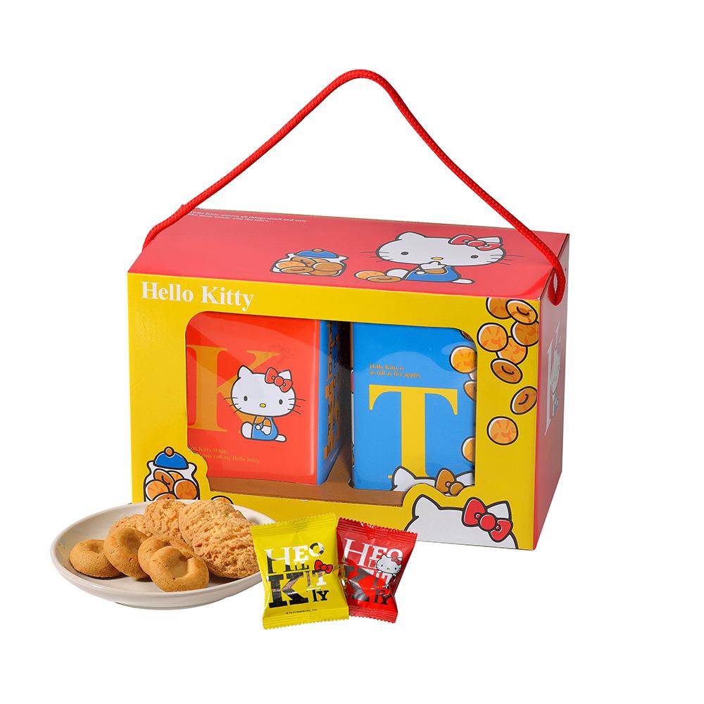 《Hello Kitty》雙饗禮盒×1盒(奶蛋素)(提盒)