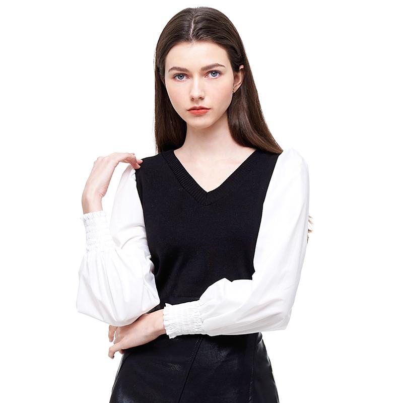 BL 特別拼袖衣 經典黑