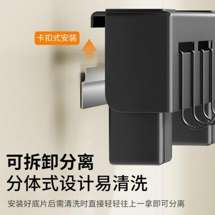 不銹鋼刀架菜刀廚房用品多功能置物架壁掛式筷子筒刀具一體收納架『xxs12144』