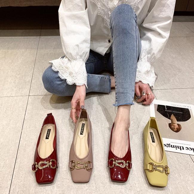 FOFU-時尚鏈條平底平跟樂福鞋【02S13539】