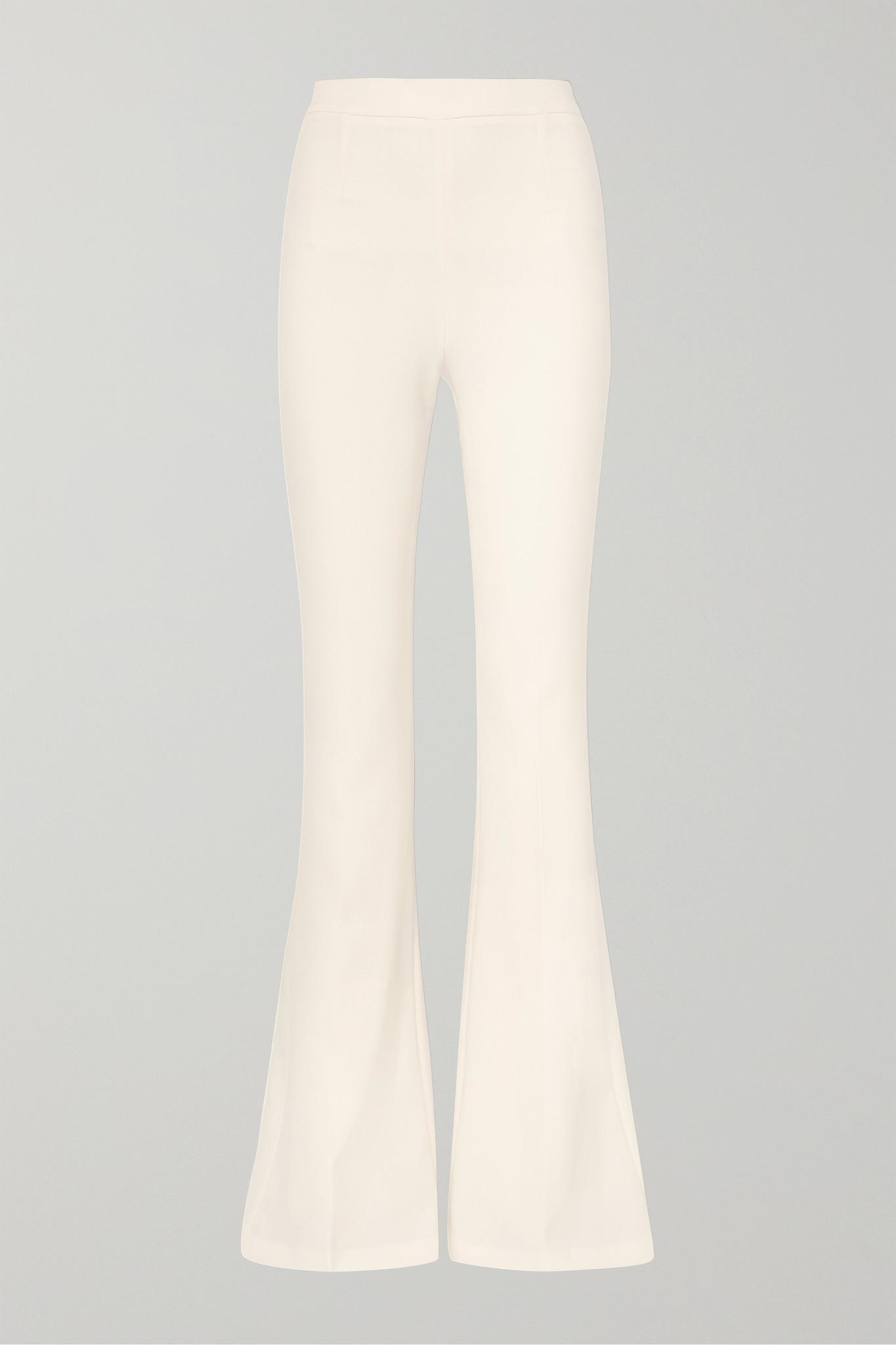 SAFIYAA - Halluana Stretch-crepe Flared Pants - Ivory - FR36