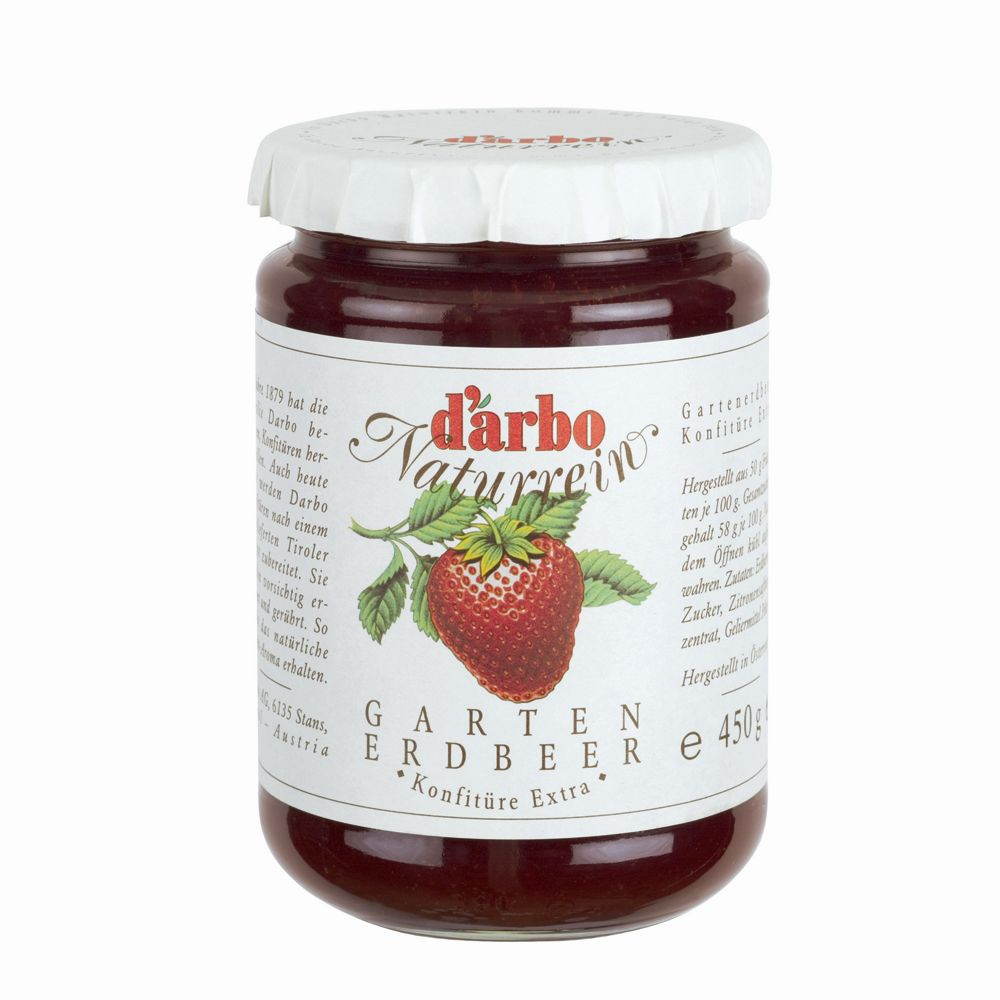 D'arbo  德寶天然草莓果醬 D'arbo All Natural Preserves in 450 g (16 oz) Jar-Garden Strawbe 450gx1入