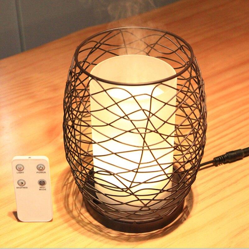 【保險+保固】蠟燭燈氛圍 超音波精油香氛水氧機 (附遙控器) 【來雪拼】加濕器 香薰機