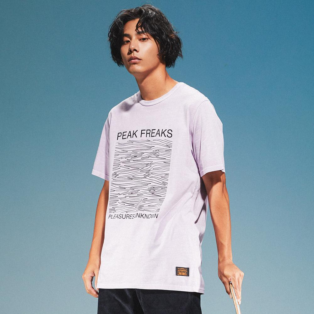 Levis 男款 短袖T恤 / 滑版系列 / 街頭塗鴉 / 香芋紫-熱銷單品