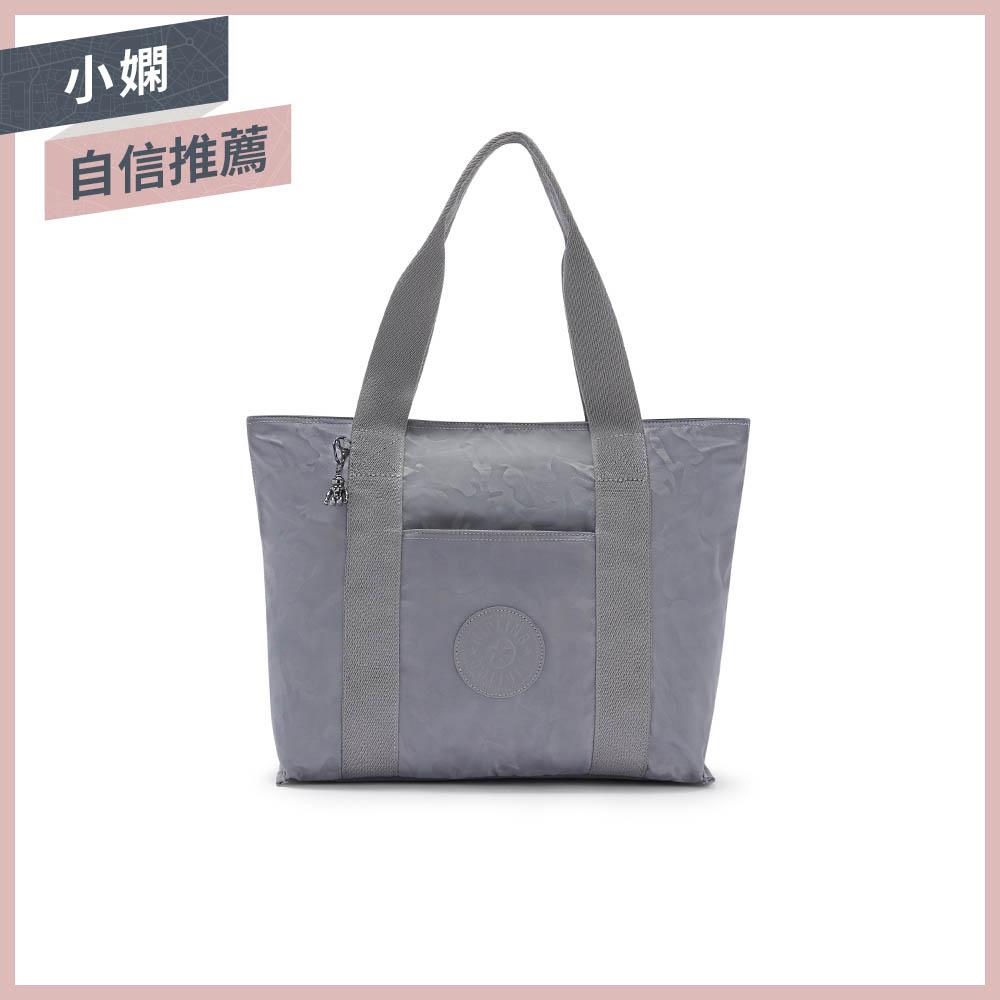 光澤霧灰紫迷彩大容量手提包-ERA M