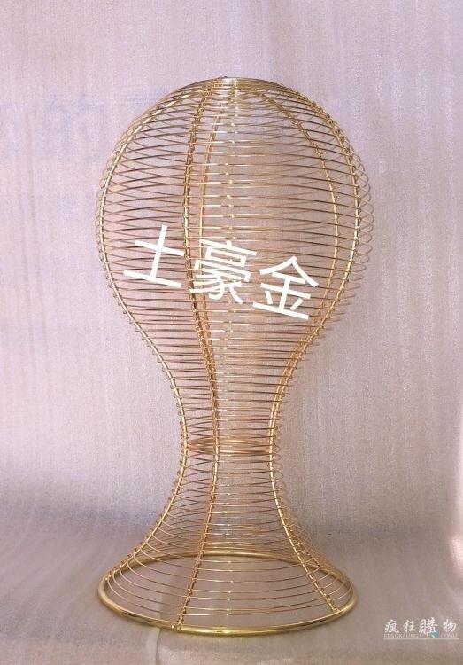 頭模 鐵藝簡約現代男女帽子假髪道具模特架頭模展示架成人帽架抽象頭模T