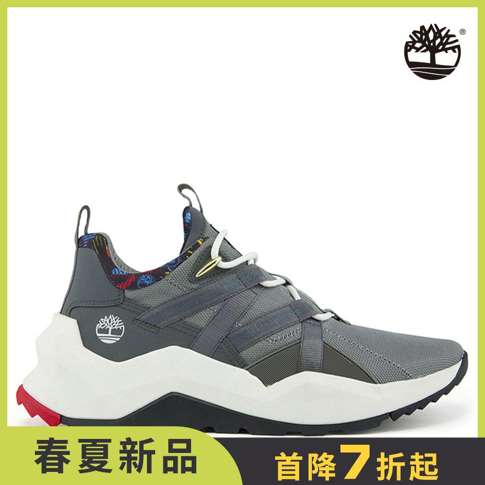 Timberland 男款中階灰織物網面MADBURY休閒鞋 A2PVJ033