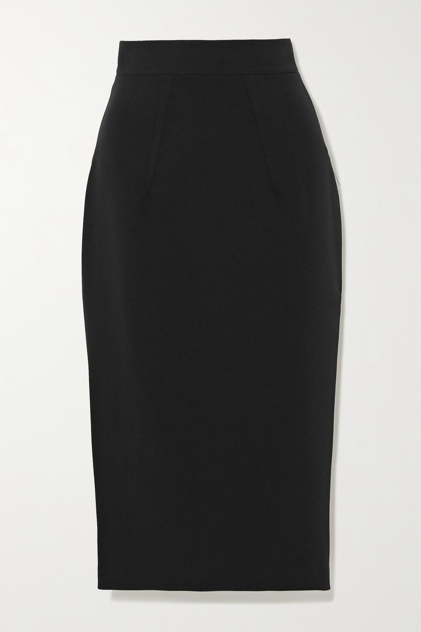 SAFIYAA - Hokuku Stretch-crepe Skirt - Black - FR42