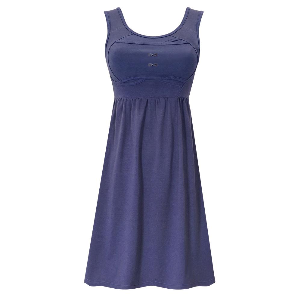 雙C防擴對策 新版 棉感經典美胸洋裝-海軍藍