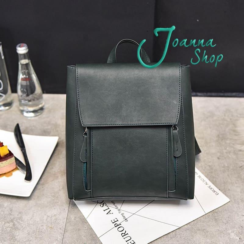 新款個性復古背包韓版簡約休閒旅行時尚學院風後背包1-Joanna Shop