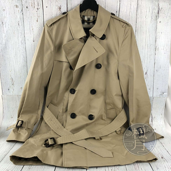 BRAND楓月 BURBERRY 博柏利 3983339 卡其色經典風衣 #44 雙排釦 100%棉 防風 防潑水 大衣