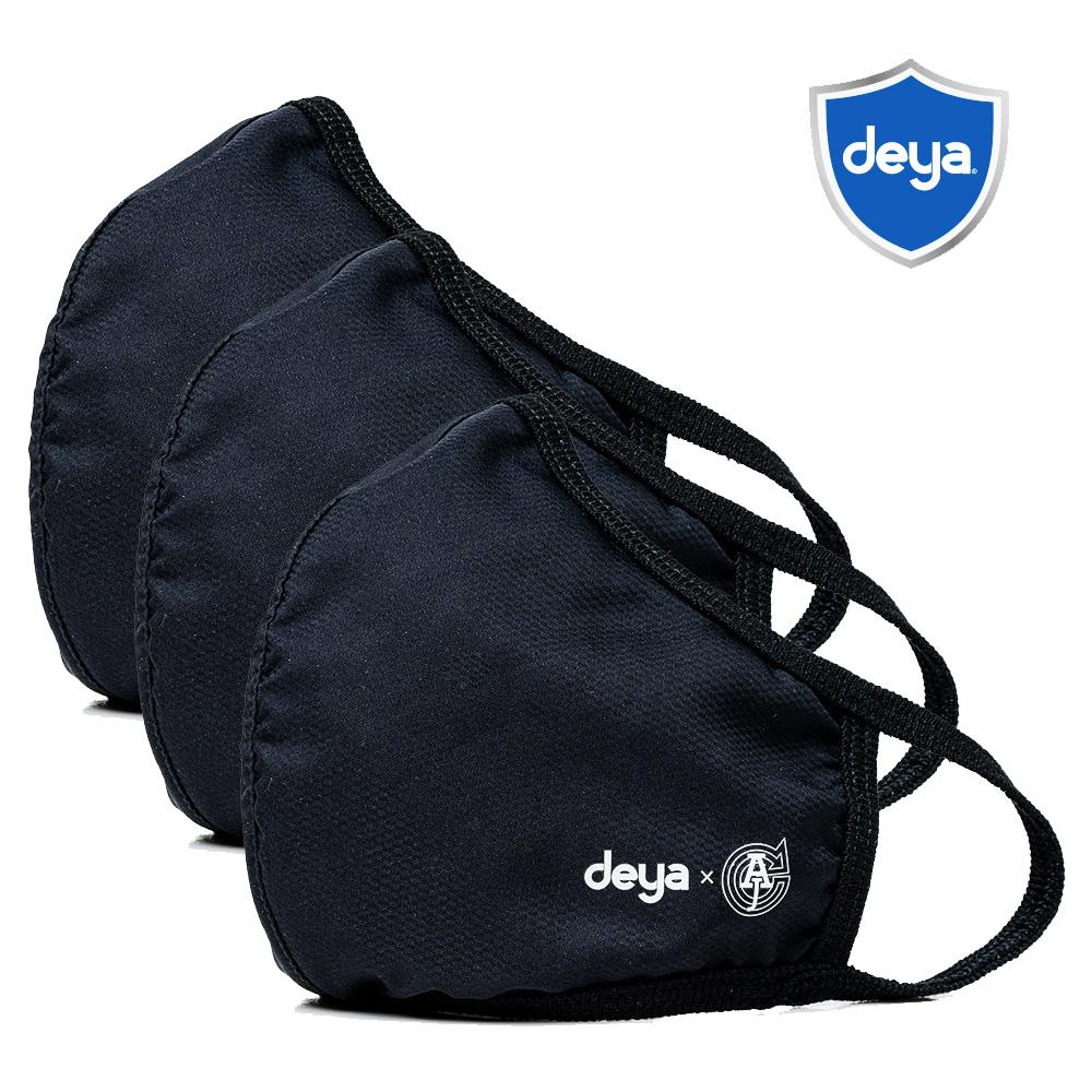 deya 3D立體涼感抗菌布口罩 - 沉穩極黑(三入)