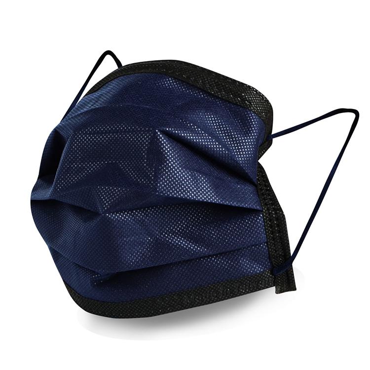 ★新品上市★格安德GRANDE 雙鋼印醫用彩色口罩50入/包(成人平面藏青藍色),