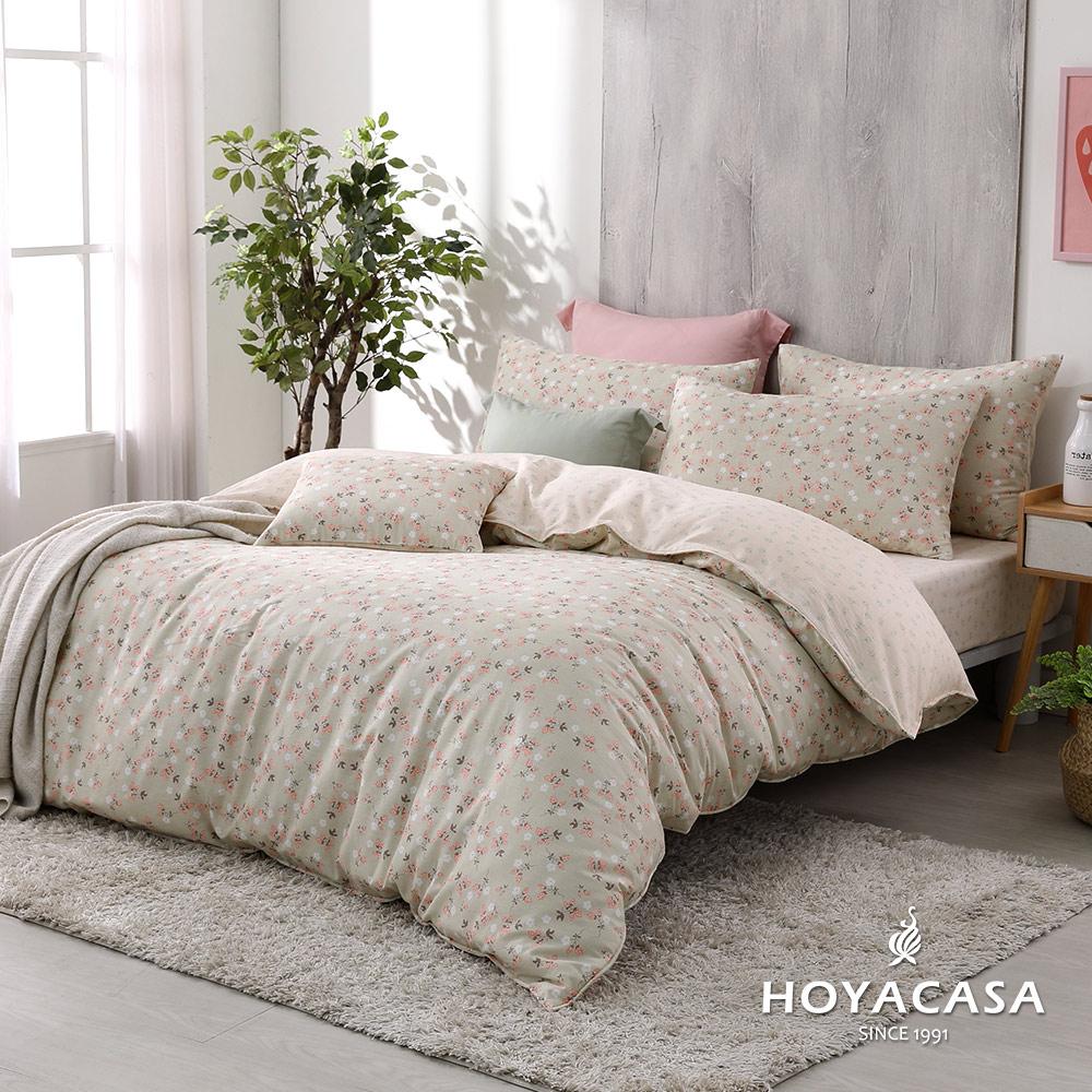 雙人 / 精梳棉兩用被床包組(天絲入棉30%) / 花間歲月 / HOYACASA