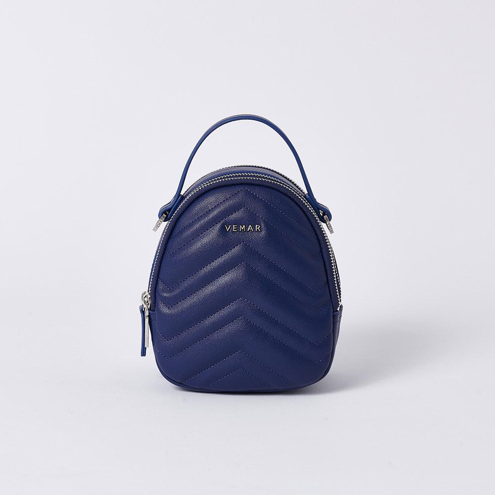 【限時特價】VEMAR優雅細緻貝殼4 WAYS小後背包(寧靜藍)
