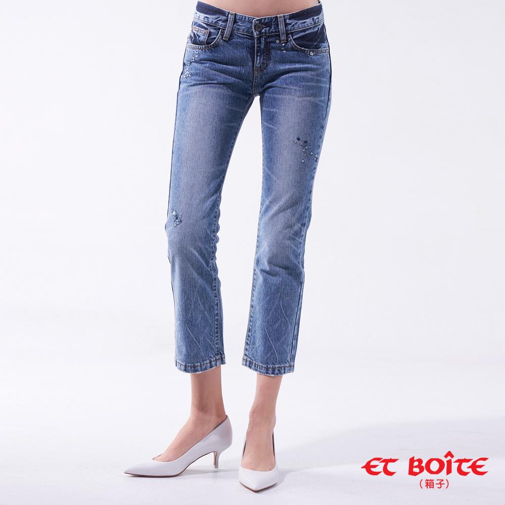 【5折限定 】LeJean花朵九分褲- BLUE WAY ET BOîTE 箱子