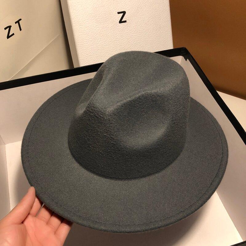 男士禮帽 爵士帽 英倫帽子女式秋冬百搭時尚網紅款法式名媛禮帽優雅時尚爵士帽