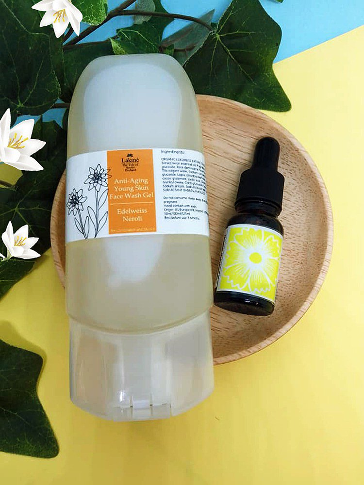 (貴寶花套裝) 橙花雪絨花光滑潔面配蠟菊橙花修護精華油