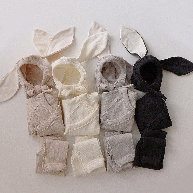超人氣// 韓國暗花布賓尼兔三件組初生套裝•Bunny Newborn Set•