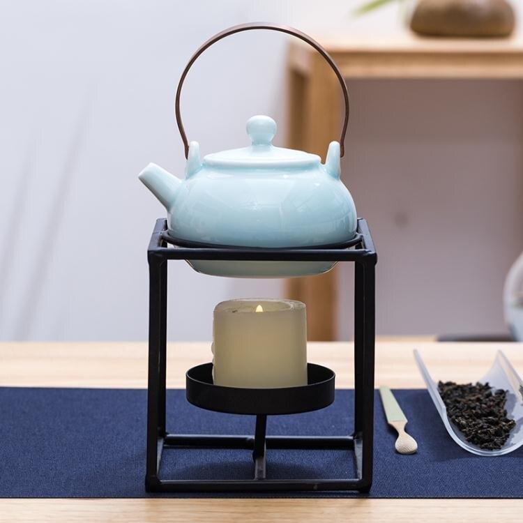 鐵藝溫茶器蠟燭臺茶爐架酒精燈煮茶爐日式干燒臺保溫爐加熱底座