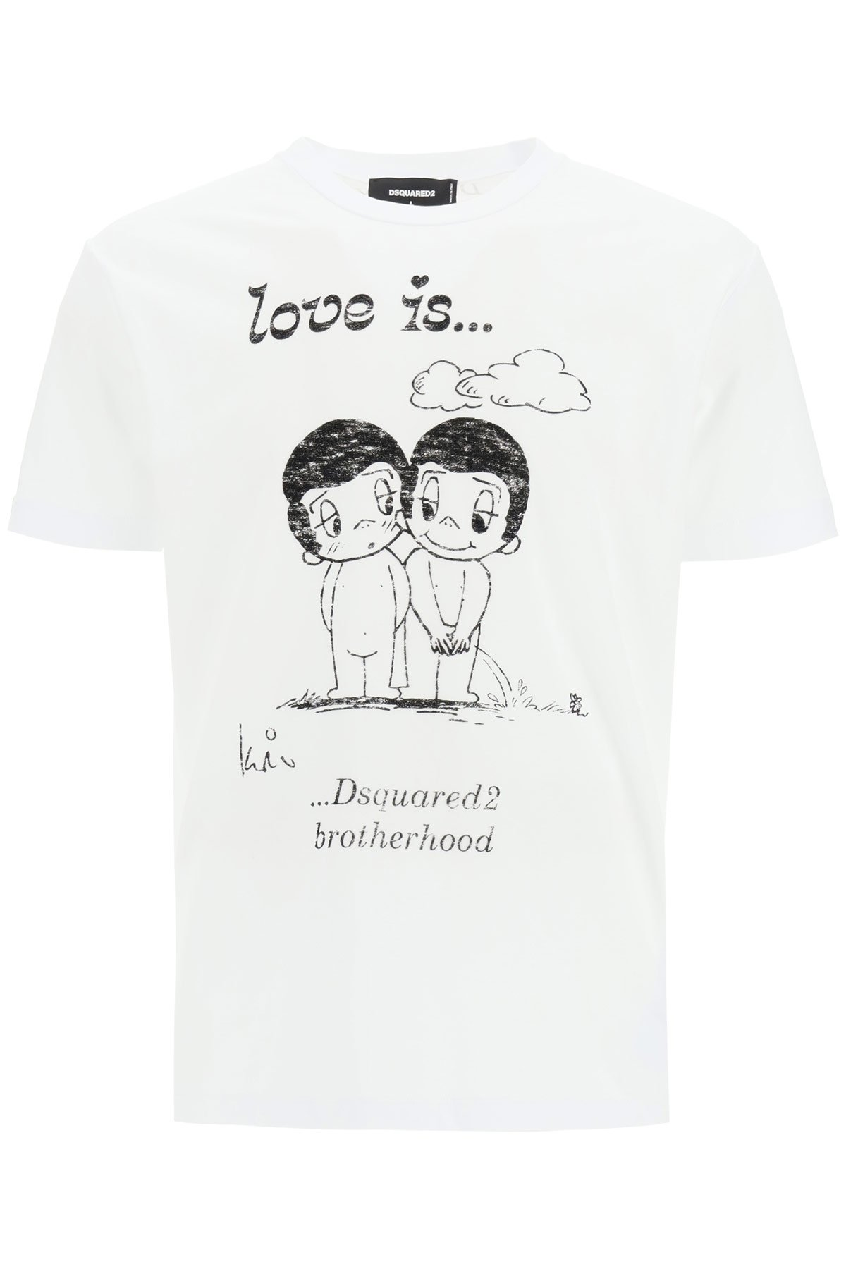 Dsquared2 t-shirt with love is forever print