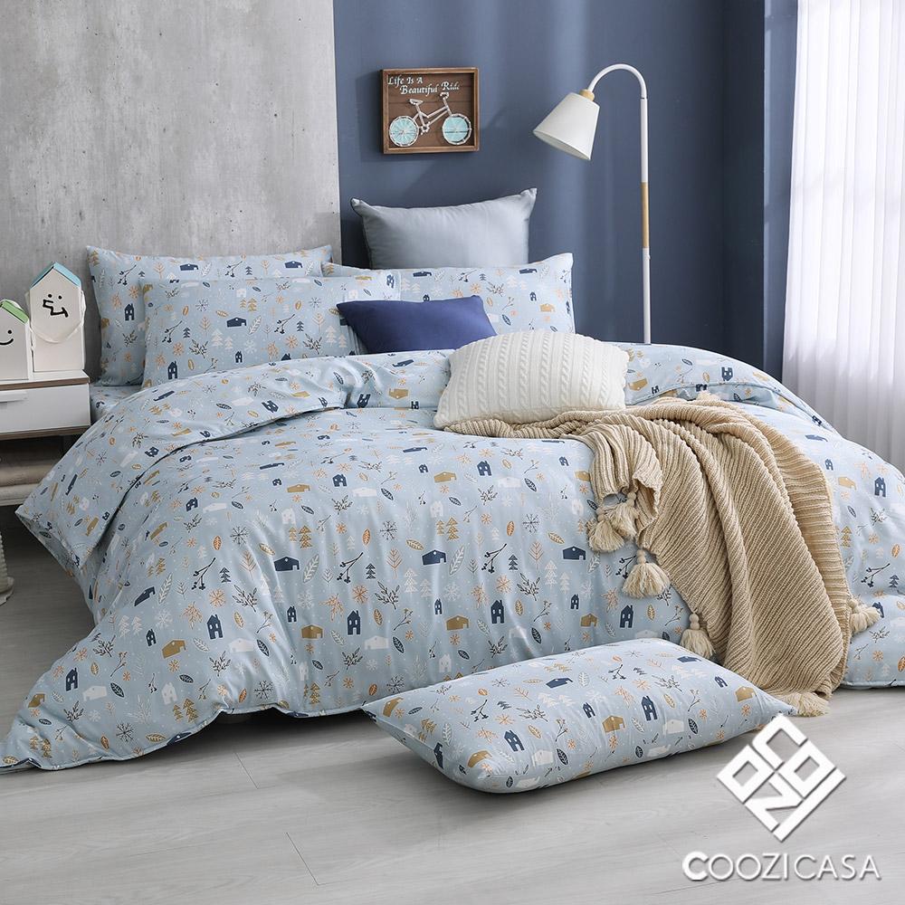 (雙人/加大) / 吸濕排汗天絲兩用被床包組 / 清新北歐 / COOZICASA