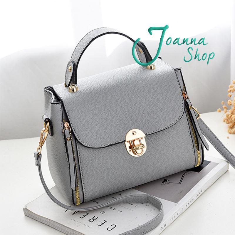 新款韓版簡約百搭鎖扣潮流時尚斜肩包2-Joanna Shop
