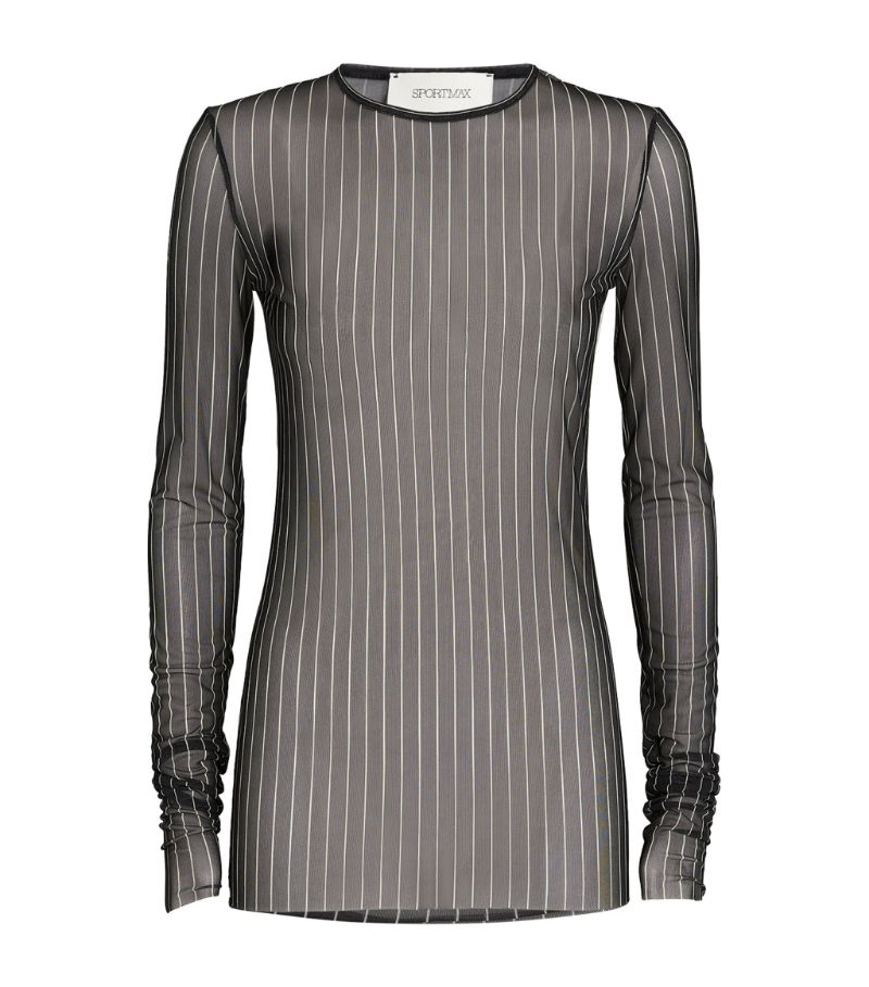 Sportmax Sheer Stripe Tempra Top