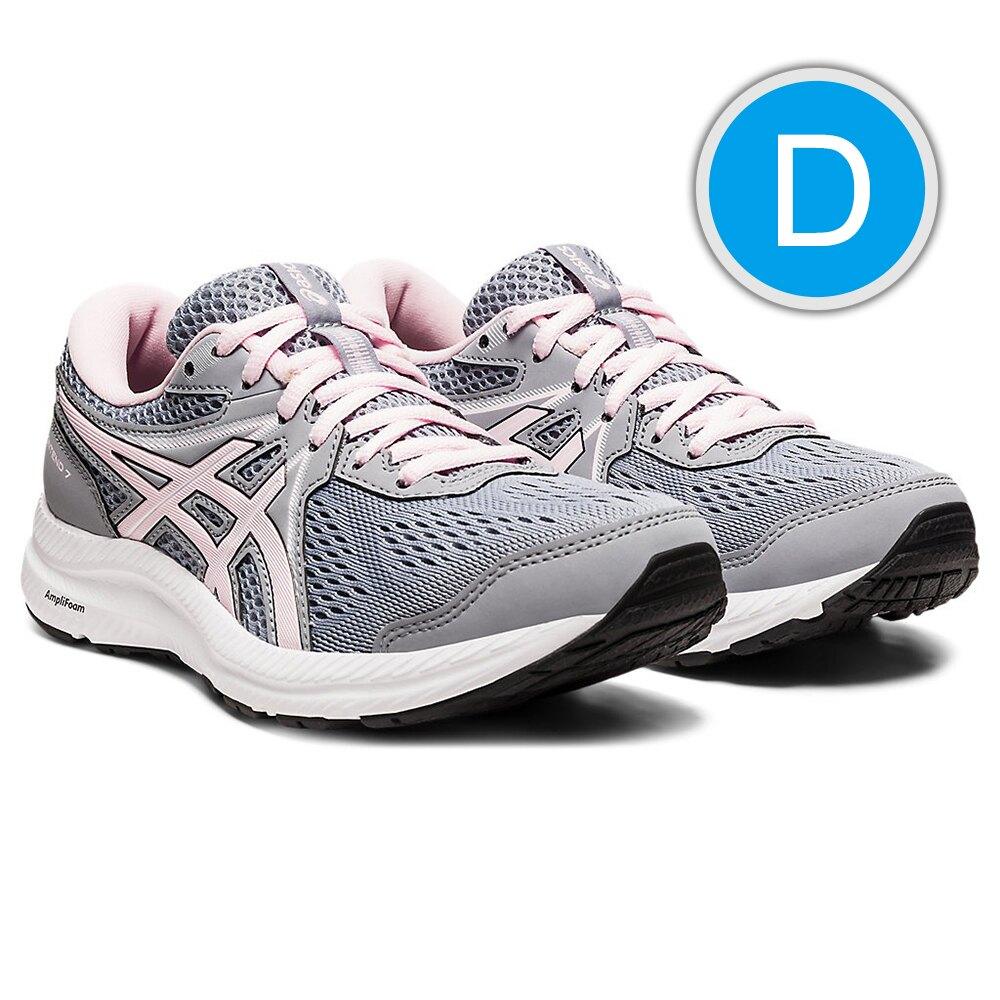【領券再折$150】ASICS GEL-CONTEND 7 D寬楦 女慢跑鞋 運動鞋 粉灰 1012A910-022 21SS 【樂買網】