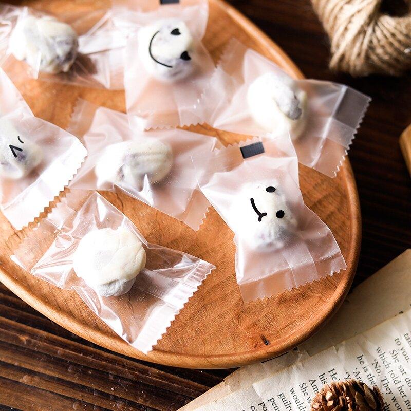 網紅奶棗獨小包裝袋牛扎餅干雪花酥包裝紙曲奇袋子機封新年糖果袋