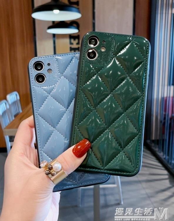皮質牛油果綠蘋果x手機殼全包攝像頭iPhonexr情侶xsmax磨砂11pro