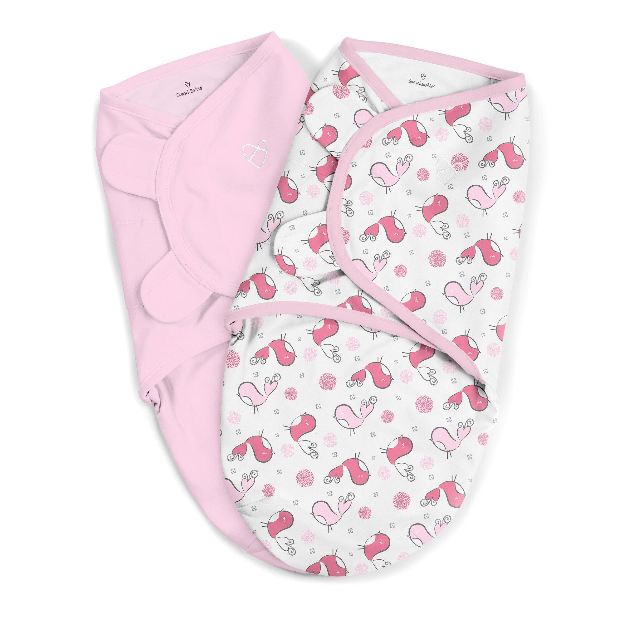 美國 Summer Infant 聰明懶人育兒包巾-浪漫粉鵲2入組