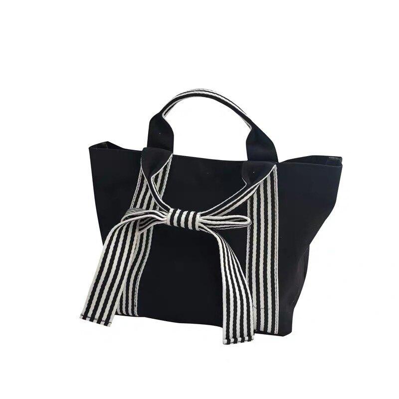 蝴蝶結休閒手提包 女用包包 黑色包包