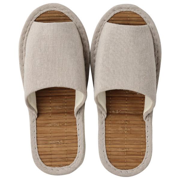 竹底拖鞋 室內拖鞋 竹製 STRIPE BE L I 21 NITORI宜得利家居