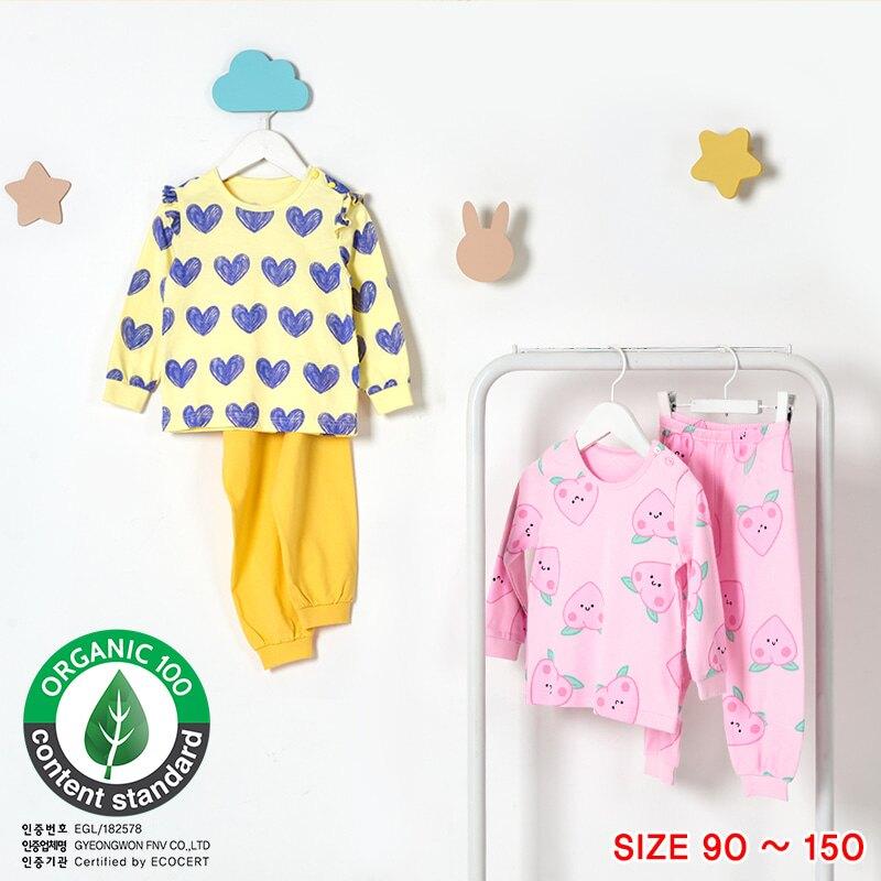現貨⚡ 20FW韓國uniFriend 有機棉認證女童睡衣/居家服-寬鬆薄棉款
