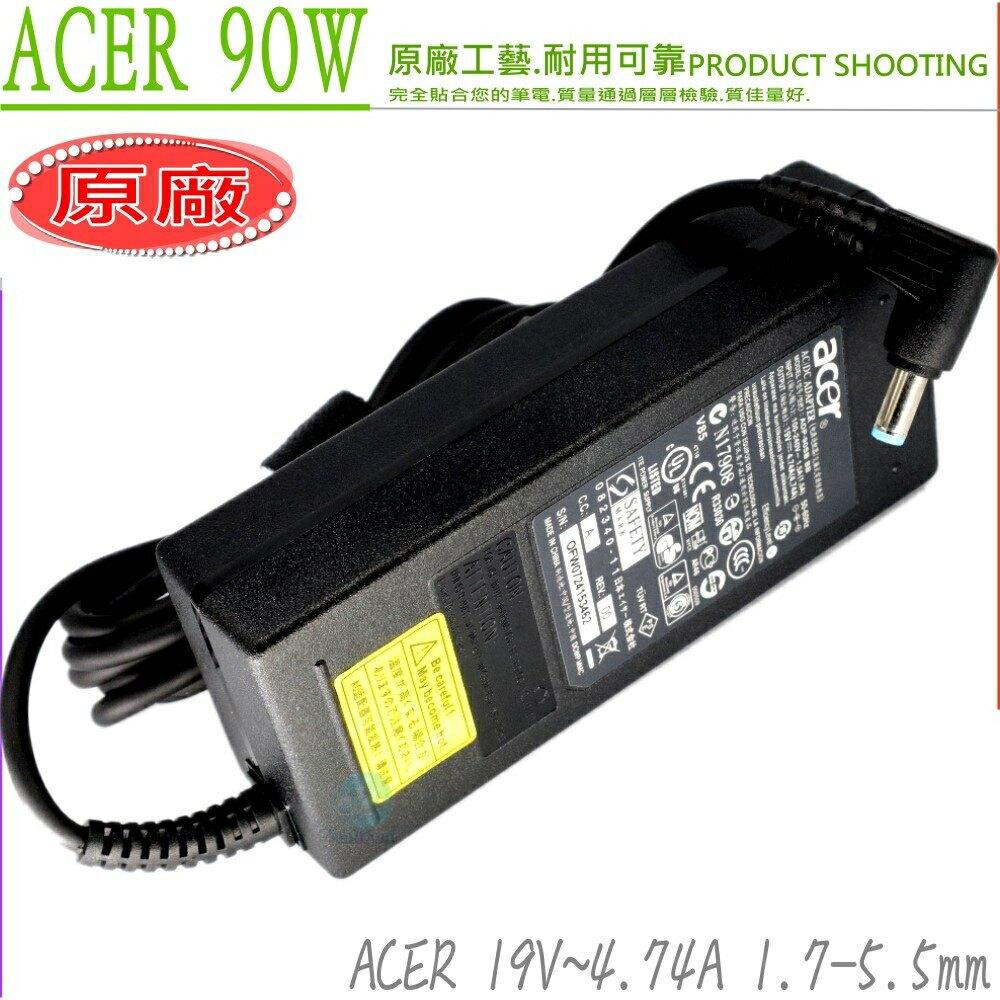 ACER 19V,4.74A,90W 充電器(原廠) V3-471,V3-471G,V3-551,V3-551G,V3-771G,V5-472,V5-552,V5-552PG,V5-572
