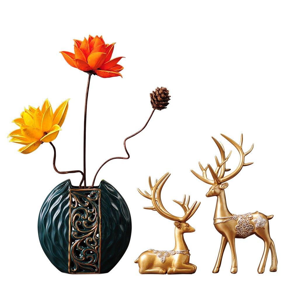 現代家居裝飾品鹿擺件客廳電視柜房間布置書房辦公室桌面創意開業