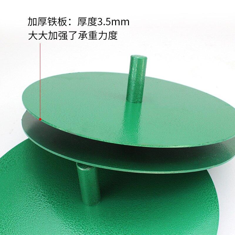 餐桌轉盤/打包轉盤 皮料轉盤加厚帶軸承卷皮料皮革布料卷轉料專用鐵轉盤支持定製【DD33256】