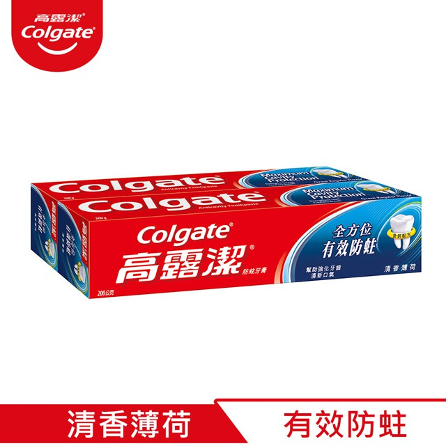 高露潔防蛀牙膏-清香薄荷-50g/200g