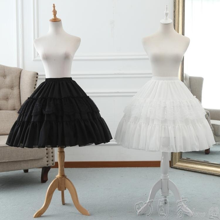 裙撐洛麗塔蕾絲魚骨裙撐lolita可調節暴力鳥籠撐 cosplay軟妹半身襯裙-盛行華爾街