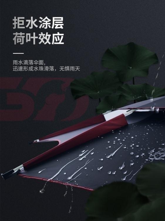 大紅狗釣傘2.4米雙層釣魚傘2.2米萬向防雨防曬加厚黑膠超輕漁傘
