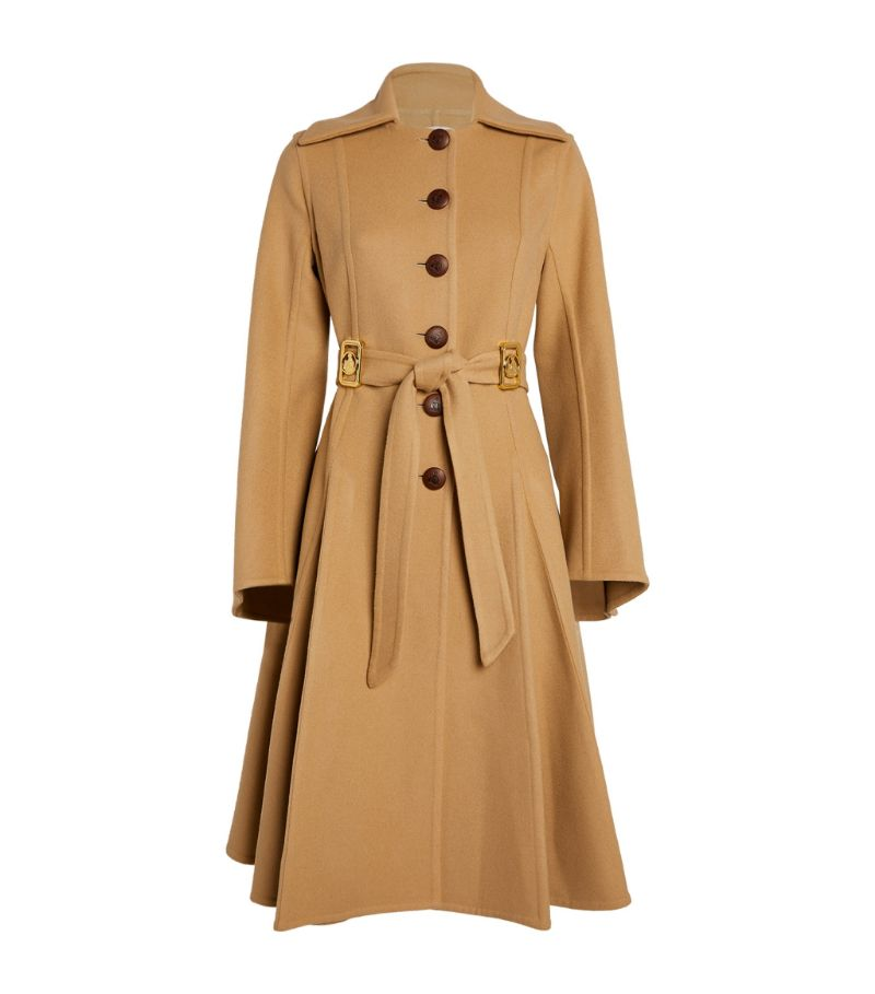 Lanvin Pleated Single-Breasted Trench Coat
