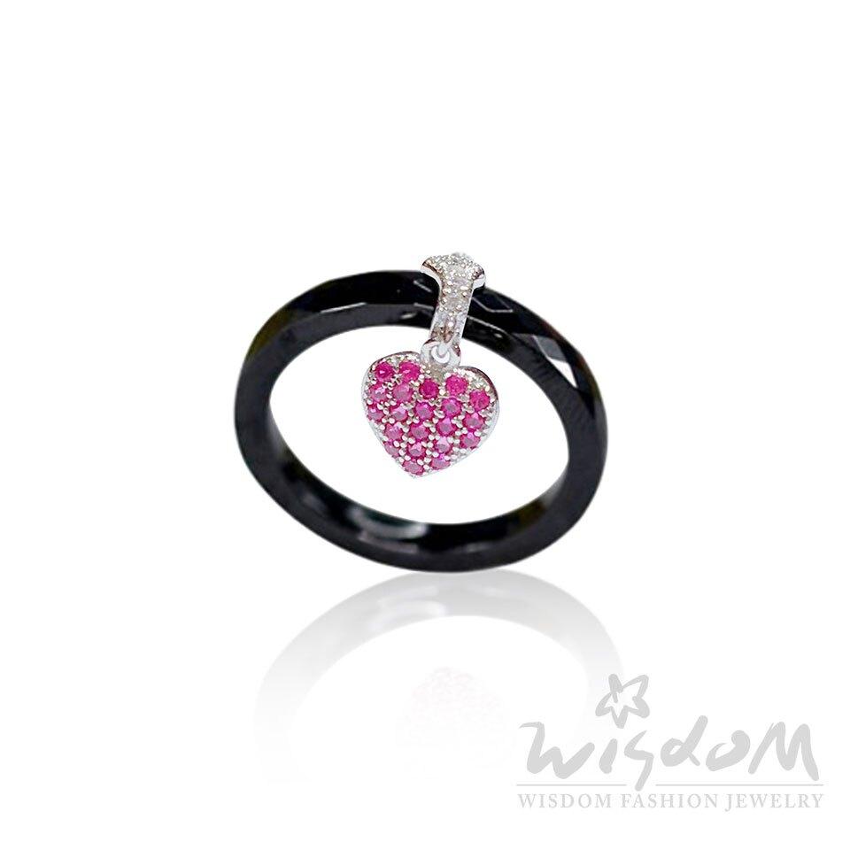 威世登 莓開眼笑 - 菱紋黑瓷銀戒 精緻閃耀禮物推薦 SA00002-BGXX