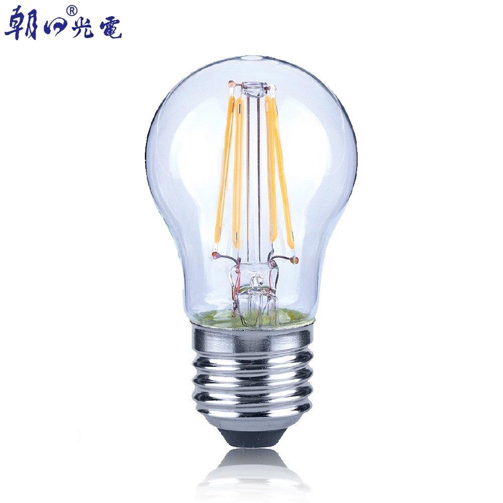 【Luxtek】 G45-4.5D 4.5W 可調光LED燈絲燈泡E27(暖白光) 5入