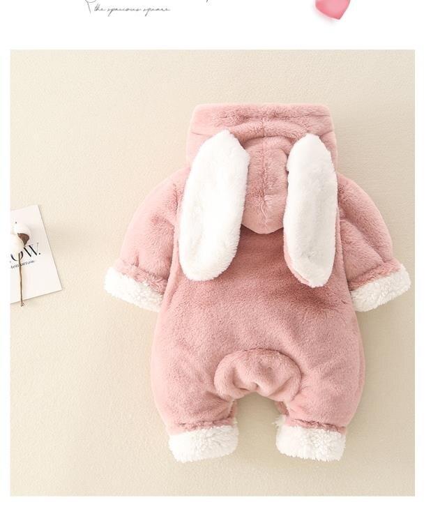 嬰兒衣服連體衣 嬰兒衣服0-3個六月連體衣秋冬寶寶外出抱衣女超萌冬裝睡衣加厚