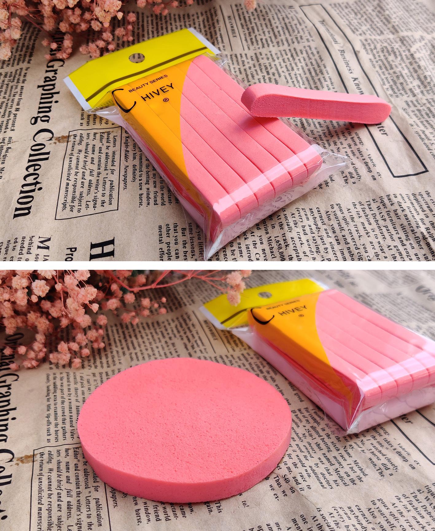 美妝美容化妝洗臉便攜壓縮條粉撲(1組3包36條)